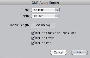 Creating an AAF or OMF - Dallas Audio Post
